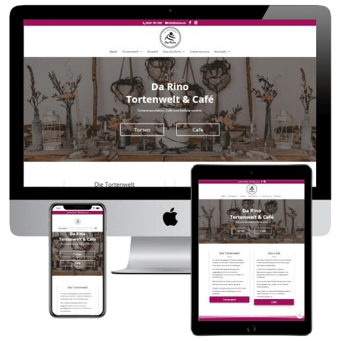 Webdesign Bottrop Neoseo Referenz Cafe Da Rino