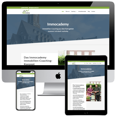 Webdesign Bottrop Neoseo Referenz Immocademy